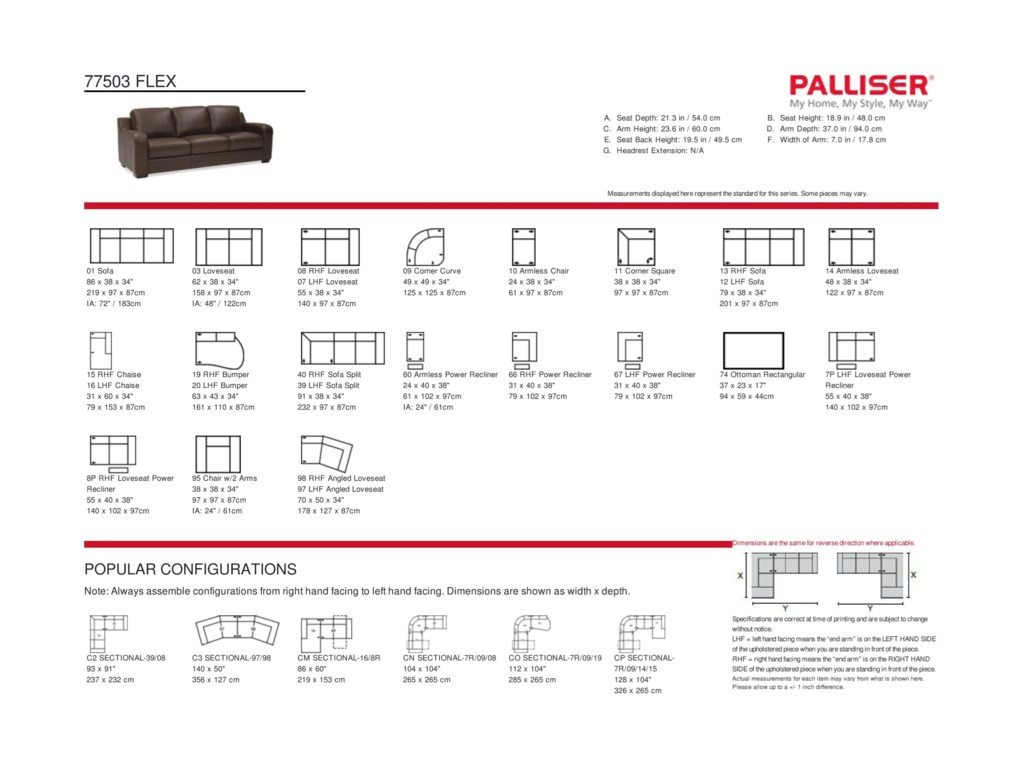 Palliser Flex4-Seat Reclining Sectional Sofa