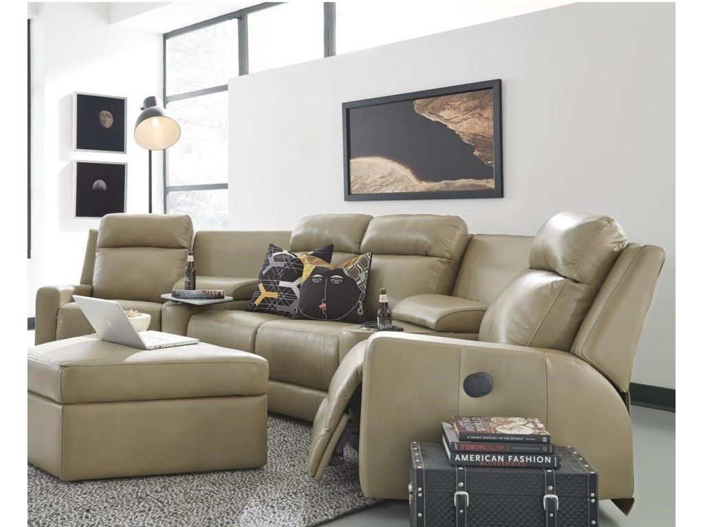 Palliser Forest Hill4-Seat Pwr Reclining Sectional Sofa