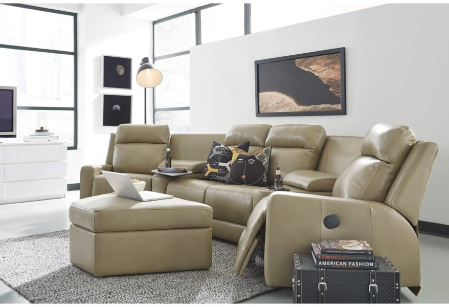 Palliser Forest Hill 4-Seat Power Reclining Sectional Sofa ...