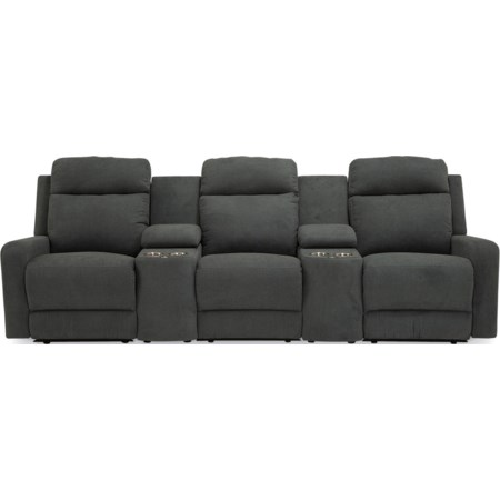 3-Seat Reclining Sectional Sofa