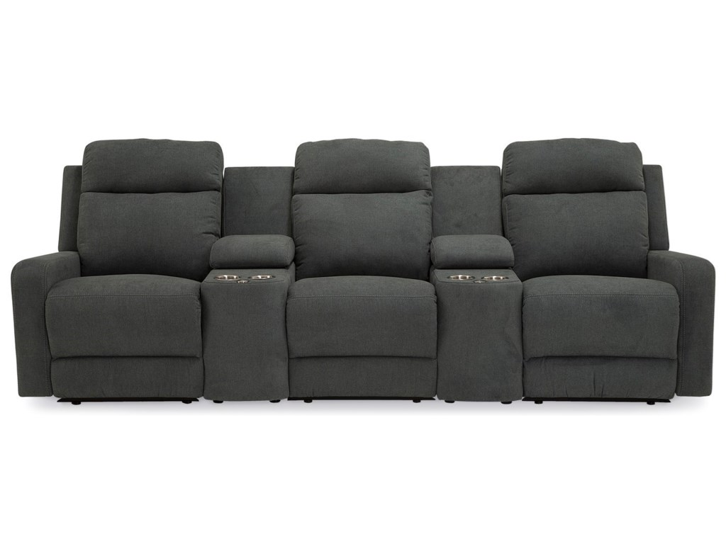 Palliser Forest Hill 3-Seat Reclining Sectional Sofa with Cupholder ...