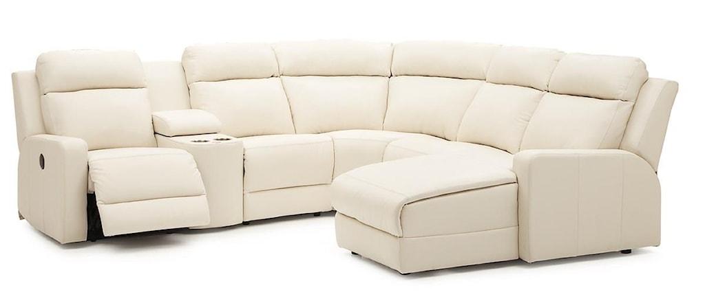 Palliser Forest Hill Reclining Sectional Sofa Chaise Dunk Bright