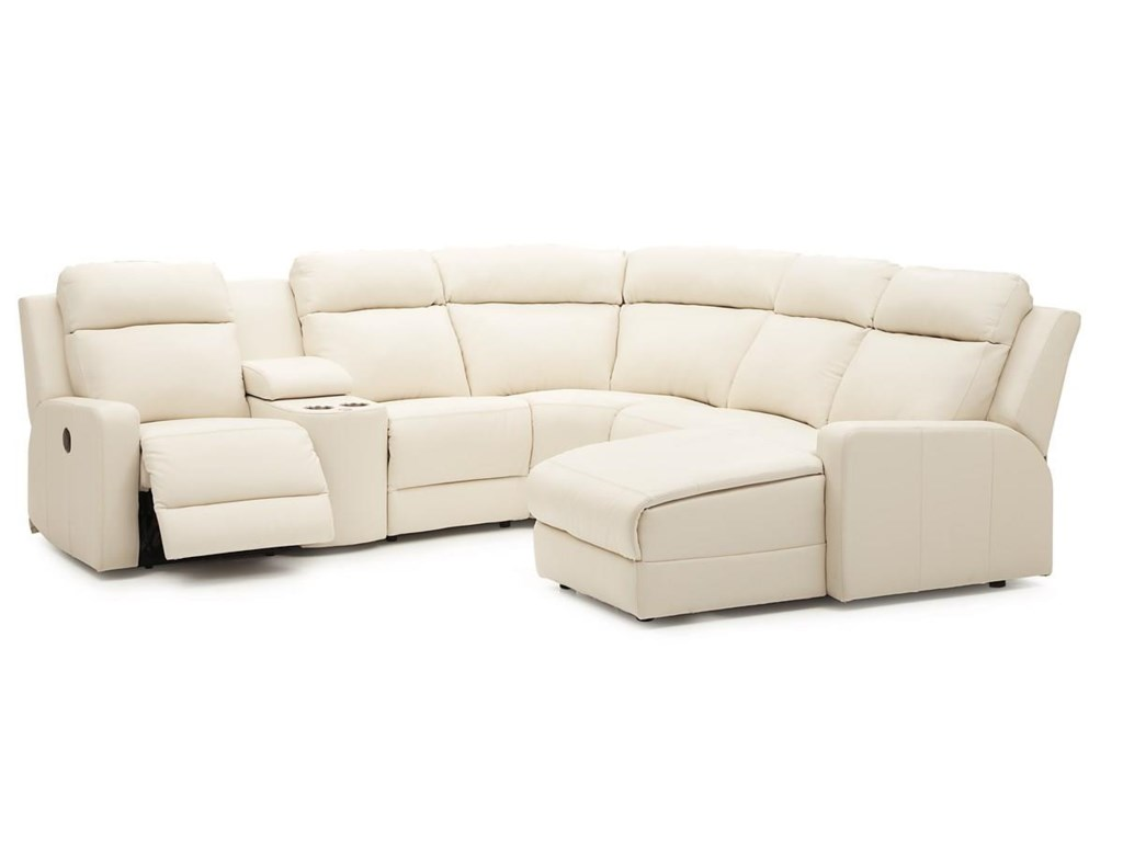 Forest Hill Reclining Sectional Sofa Chaise by Palliser at Dunk & Bright  Furniture