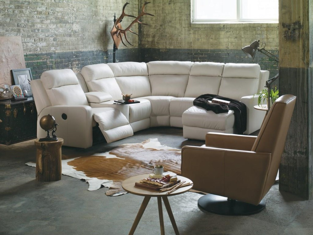 Palliser Forest HillReclining Sectional Sofa Chaise