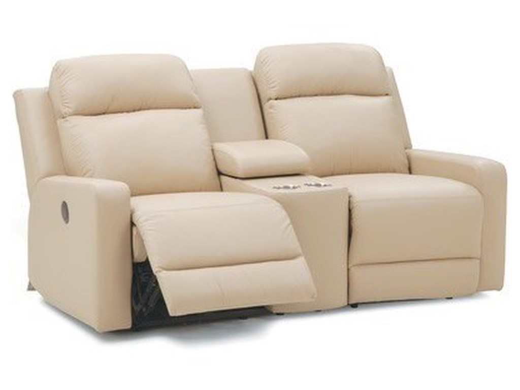Palliser Forest HillConsole Loveseat Manual Reclin