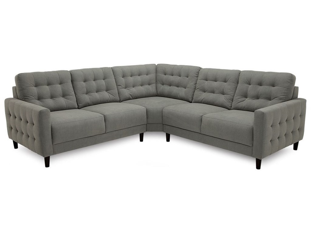 Freya Contemporary 3-Piece Sectional by Palliser at Dunk & Bright Furniture