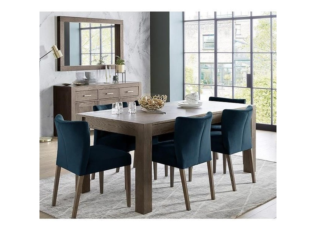 Palliser Gardiner Saylor Modern Rustic 7 Piece Table And Chair Set With Extension Table Find Your Furniture Dining 7 Or More Piece Sets