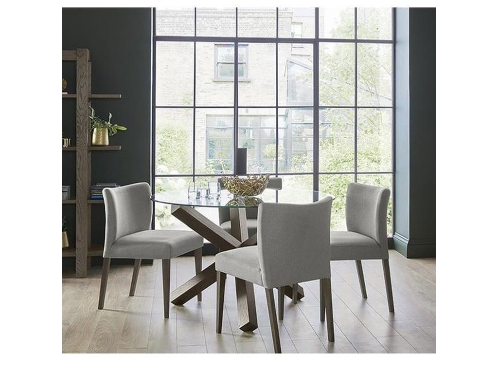 Palliser Gardiner Saylor Modern Rustic 5 Piece Table And Chair Set With Round Glass Top Table Find Your Furniture Dining 5 Piece Sets