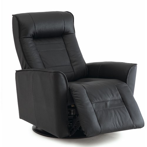 Palliser Glacier Bay Contemporary Swivel Glider Recliner with Flared Arms and Defined Headrest