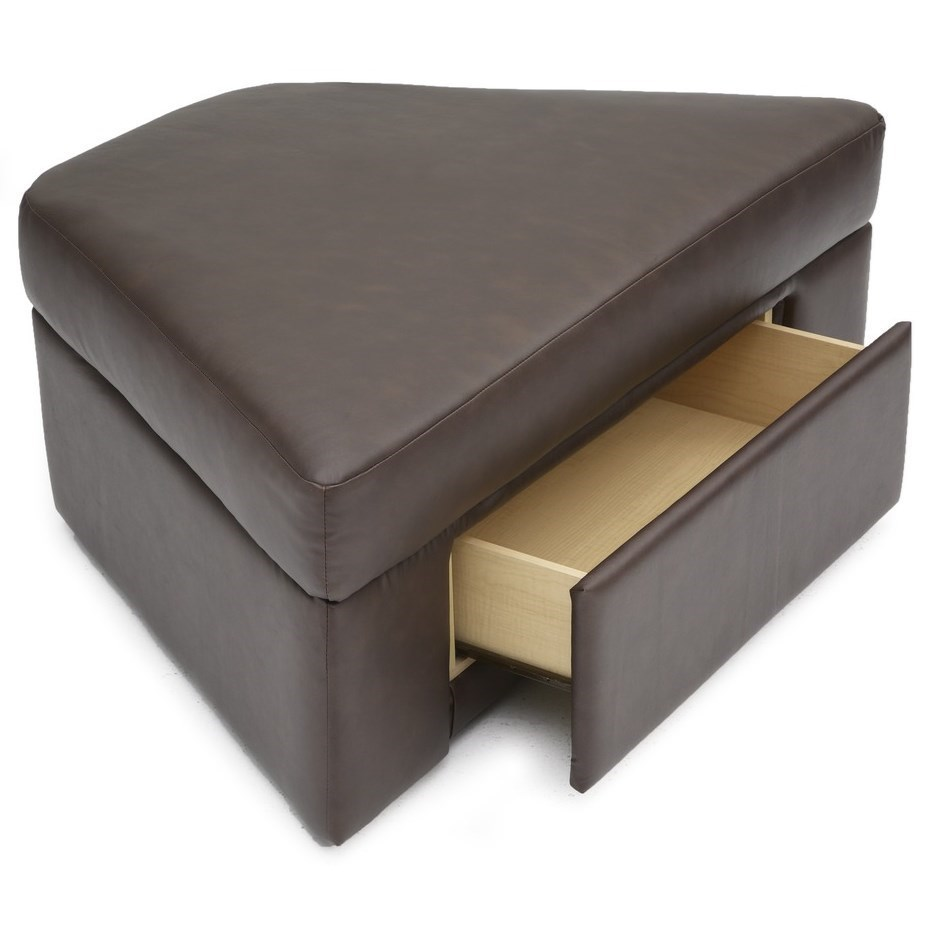 Home Theater Wedge Ottoman with Storage