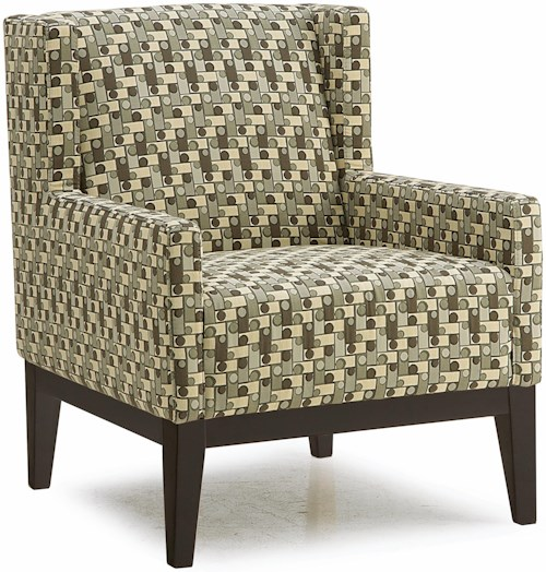 Palliser Helio Contemporary Wing-Back Accent Chair with Tapered Block Legs