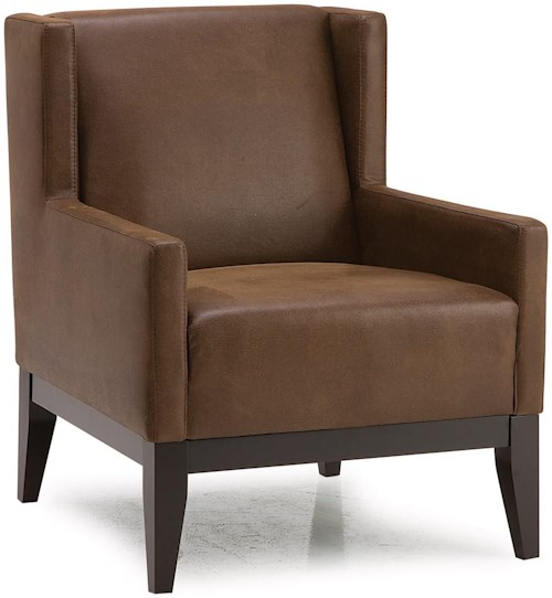Palliser Helio Contemporary Wing-Back Accent Chair w/ 2 Pillows