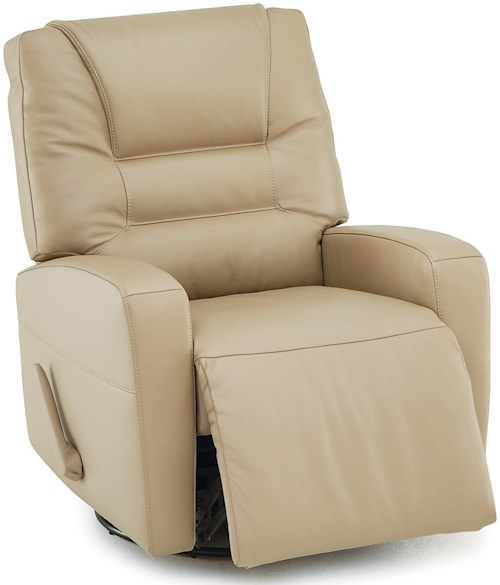 Palliser Highwood Contemporary Swivel Glide Recliner with Track Arms