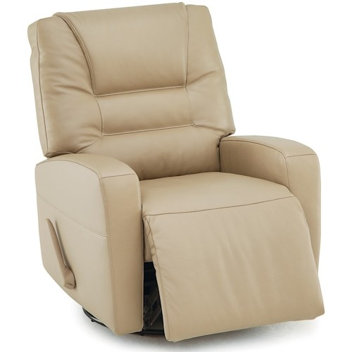 Palliser Highwood Contemporary Swivel Rocker Recliner with Track Arms