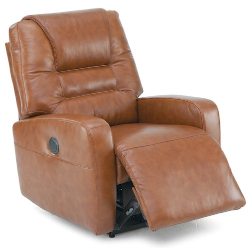 Palliser Highwood Contemporary Layflat Power Recliner with Track Arms