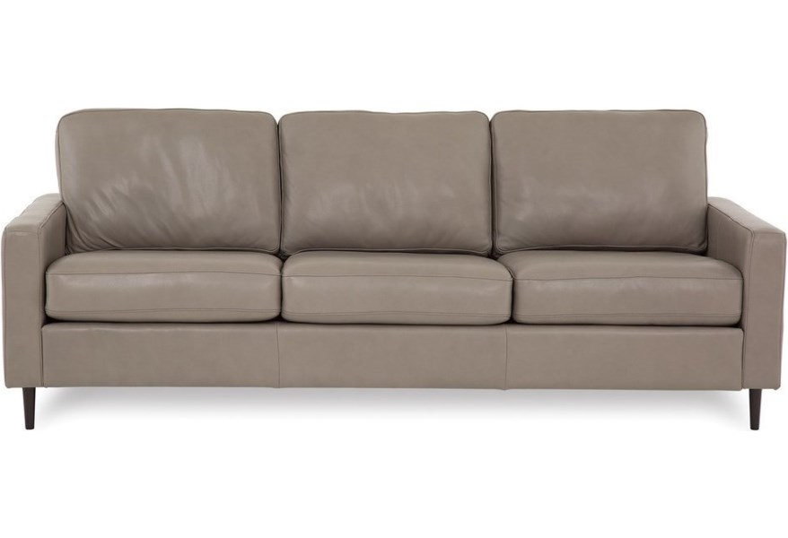 Palliser Inspirations Emilia High Leg Contemporary Sofa With Slim Track Arms And High Legs Jordan S Home Furnishings Sofas