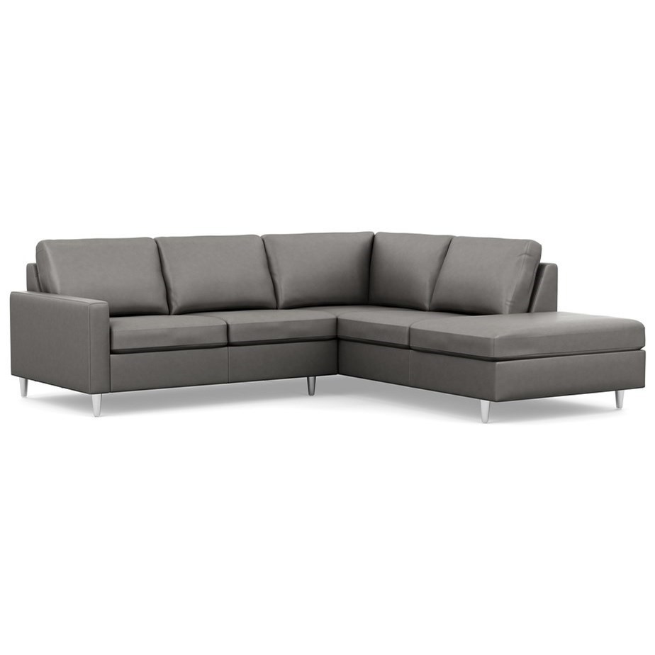 Palliser inspirationsloveseat and chaise sectional