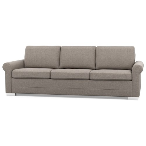 Palliser Inspirations Contemporary Sofa with Rolled Arms and Low Legs