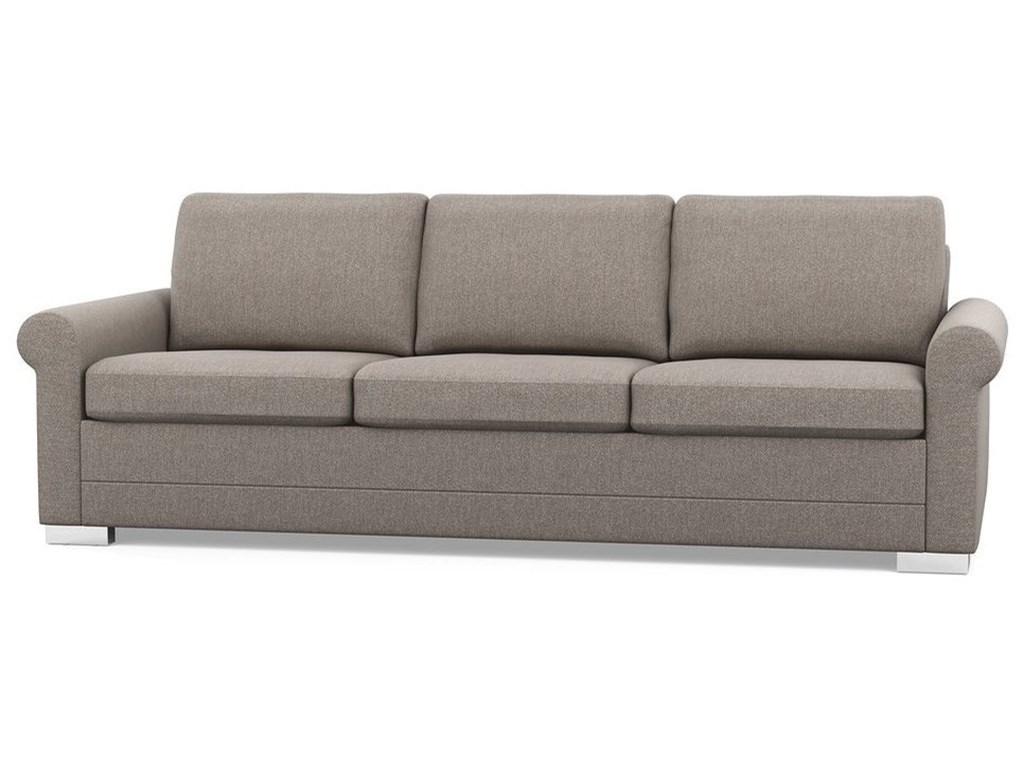Inspirations Contemporary Sofa With Rolled Arms And Low Legs By Palliser