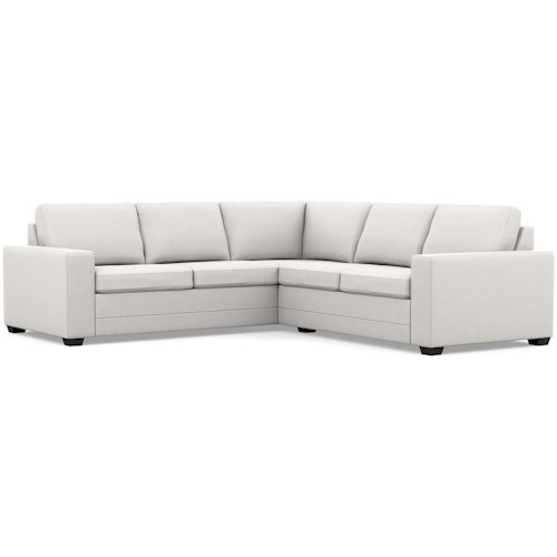 Palliser Inspirations Contemporary Sectional Sofa with Wide Track Arms and Low Legs