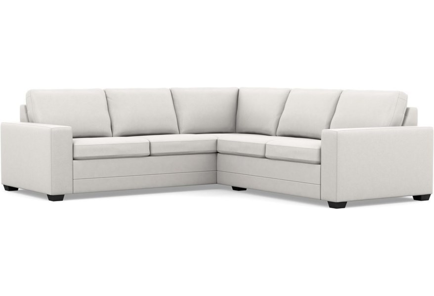 Inspirations - Bello Low Leg Contemporary Sectional Sofa with Wide Track  Arms and Low Legs by Palliser at Stoney Creek Furniture