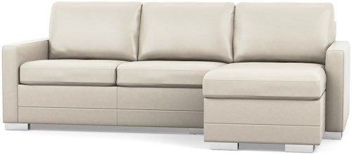 Palliser Inspirations Contemporary Sofa with Chaise and Narrow Track Arms