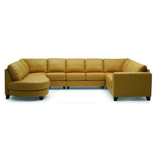 Palliser Juno Elements 77494 Right Arm Facing Corner Sectional w/ Bumper