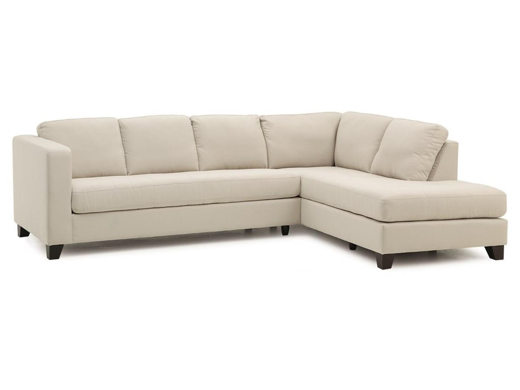 Palliser Jura Contemporary Sectional Sofa with Right Facing ...