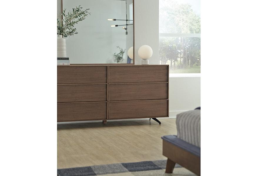 Palliser Kamden 710 456 Mid Century Modern Dresser With 6 Drawers