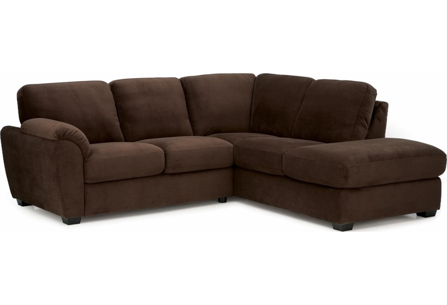 Lanza Casual Sectional Sofa With Lhf Corner Chaise By Palliser At Dunk Bright Furniture