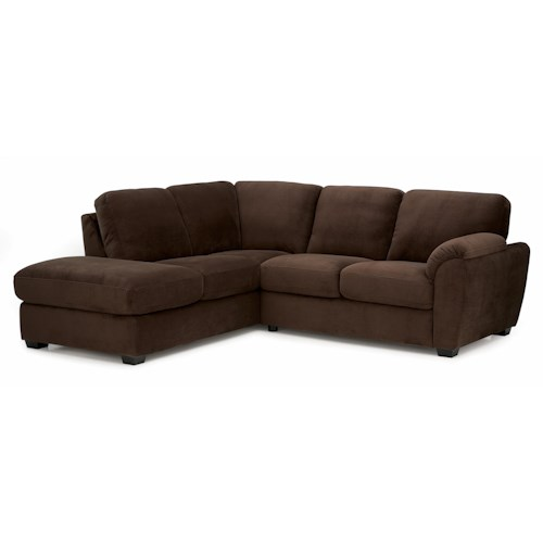 Palliser Lanza Casual Sectional Sofa with RHF Corner Chaise