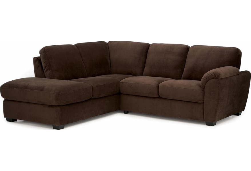 Lanza Casual Sectional Sofa With Rhf Corner Chaise By Palliser At Dunk Bright Furniture