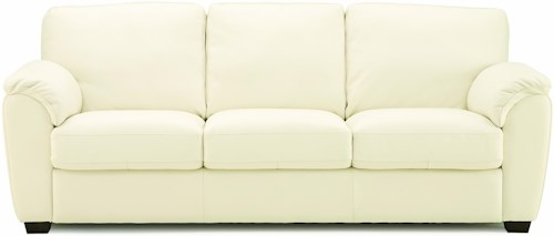 Palliser Lanza Casual Sofa with Sloped Pillow Arms