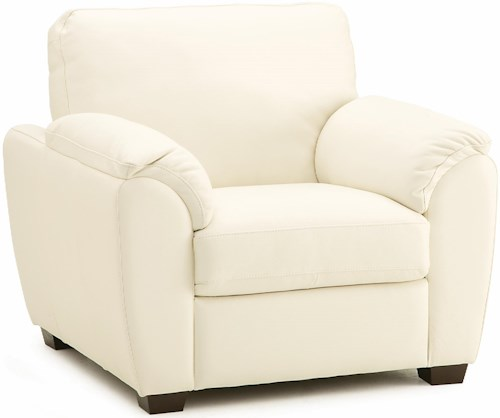 Palliser Lanza Casual Chair with Sloped Pillow Arms