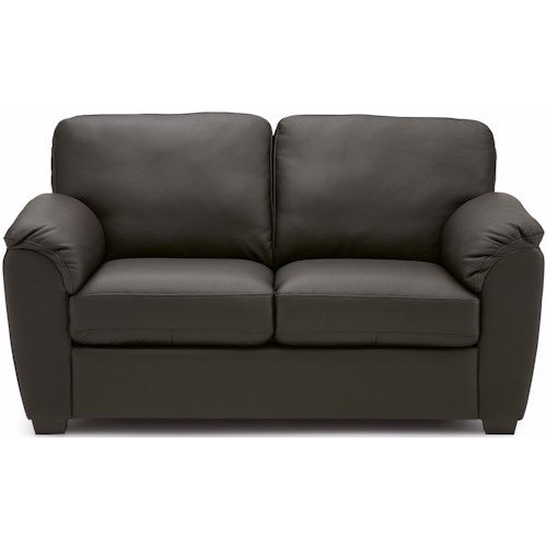 Palliser Lanza Casual Loveseat with Pillow Arms and T-Back