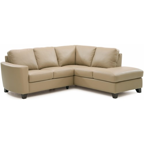 Palliser Leeds Contemporary 2-piece Sectional with RAF Chaise