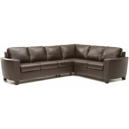 Palliser Leeds Contemporary 2-piece Sectional with LAF Sofa