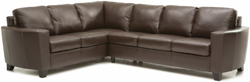 Palliser Leeds Contemporary 2-piece Sectional with RAF Sofa