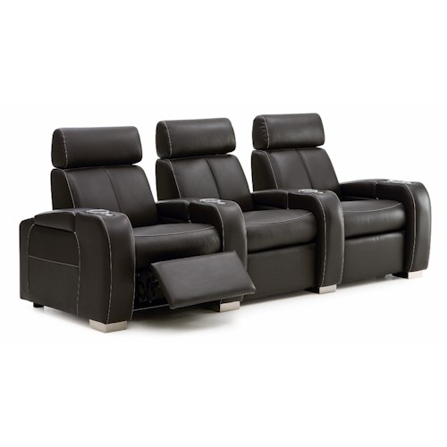 Palliser Lemans 40828 Reclining Home Theater Seating W/Cup Holders