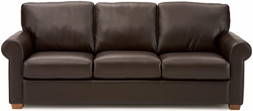 Palliser Magnum Transitional Sofa with Sock Arms and Wood Feet