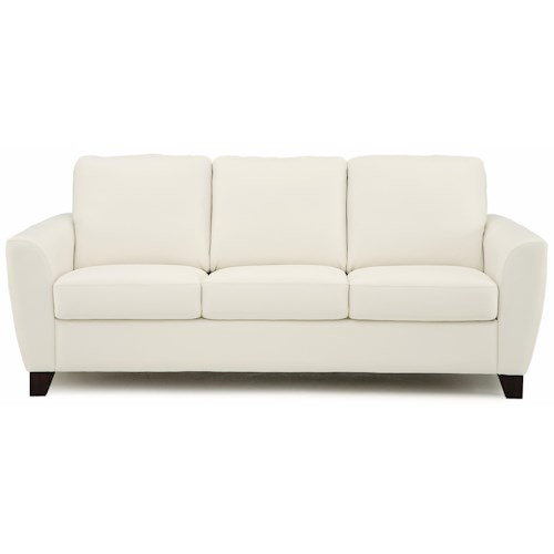 Palliser Marymount Contemporary Stationary Sofa with Flair-Tapered Arms