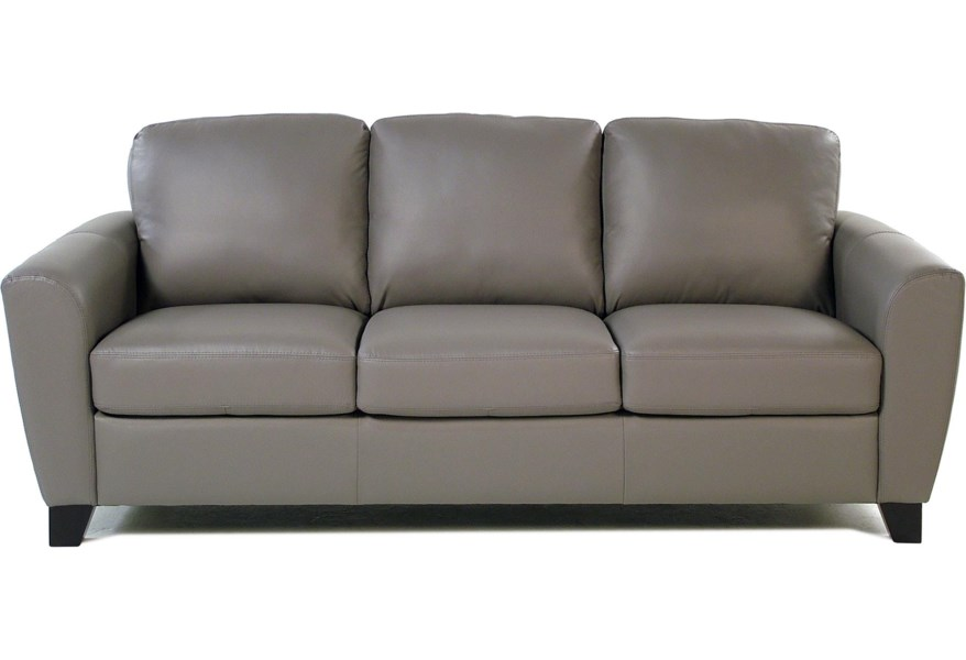 Stormy Contemporary Leather Sofa With