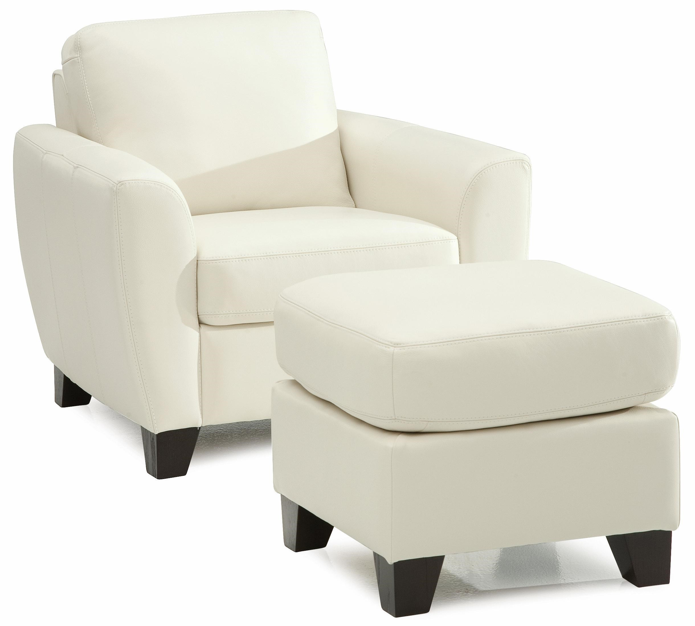 Attrayant Marymount Contemporary Stationary Chair And Ottoman With Wood Legs By  Palliser