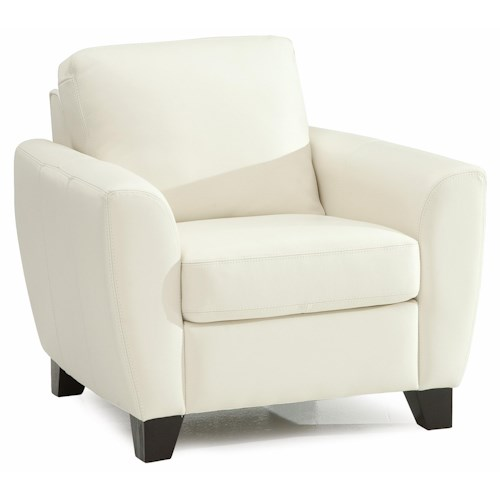Palliser Marymount Contemporary Stationary Chair with Flair-Tapered Arms