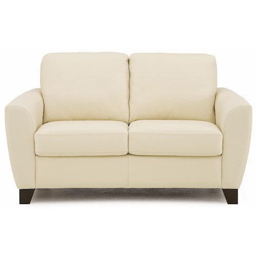 Palliser Marymount Contemporary Stationary Loveseat with Flair-Tapered Arms