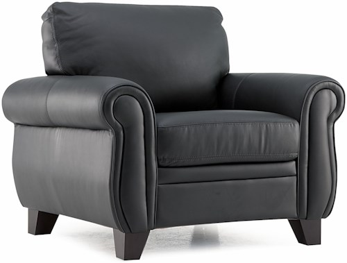 Palliser Meadowridge Transitional Chair with Rolled Panel Arms