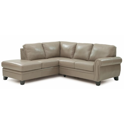 Palliser Meadowridge Two Piece Sectional Sofa with Rolled Panel Arms and Corner Chaise