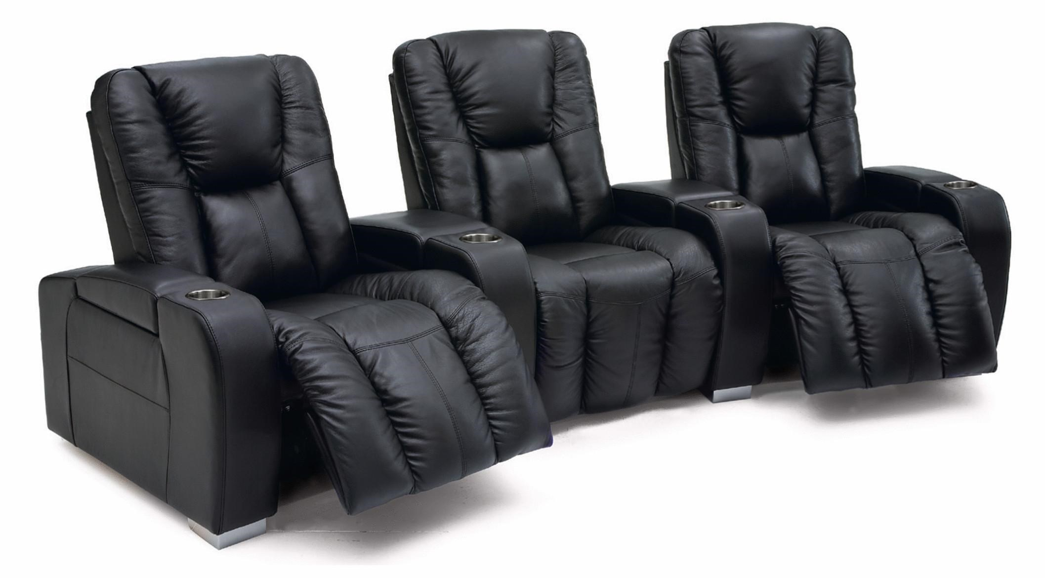 Palliser Media Contemporary 3-Seater Manual Reclining Home Theater Sectional  sc 1 st  Wayside Furniture : home theater sectional seating - Sectionals, Sofas & Couches