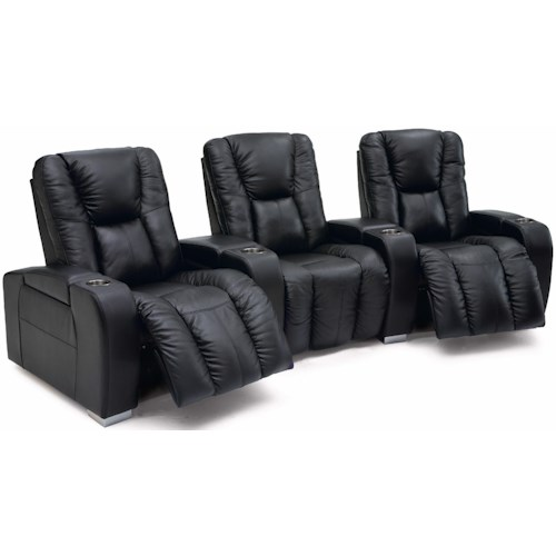 Palliser Media Contemporary 3-Seater Manual Reclining Home Theater Sectional