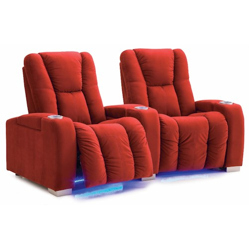 Palliser Media Contemporary Power Reclining 2-Seater Home Theater Sectional